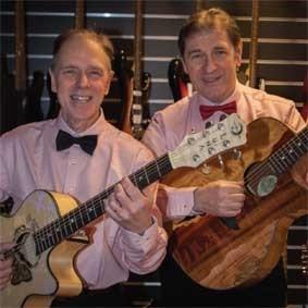 Två nostalgiska gitarrister