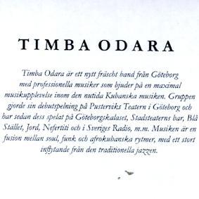 TIMBA ODARA